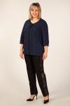 Жакет Кори Милада жакет темно-синего цвета для женщин больших размеров