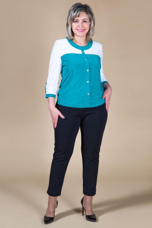 Милада необычная офисная блузка для полных Блуза Доминика
