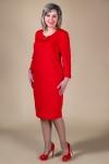 Платье Роксана Милада красное миди платье больших размеров