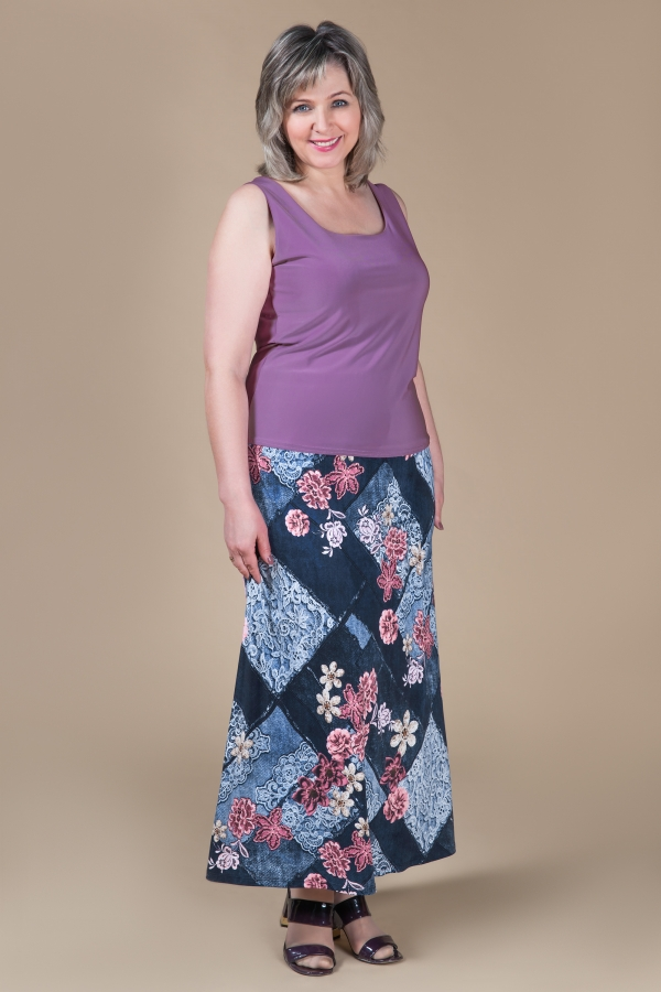 Милада юбка летняя макси для полных Юбка Лера