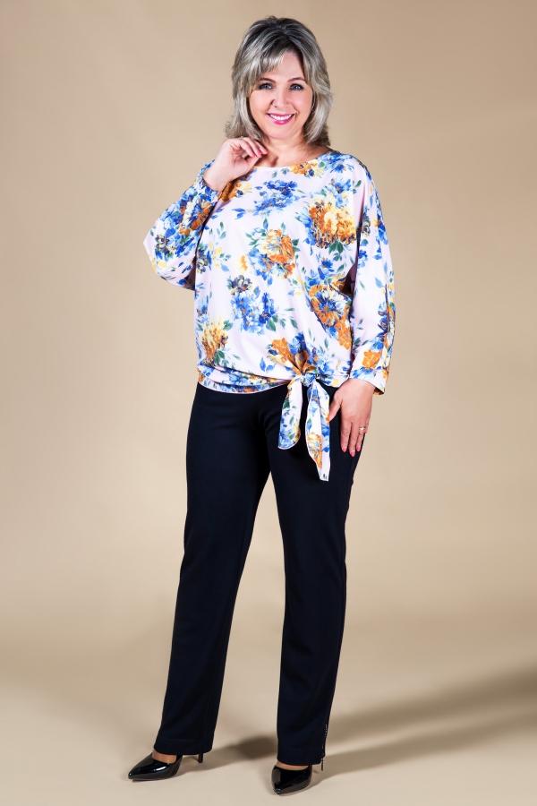 Милада блузка с завязками и рукавом летучая мышь Блуза Розалия