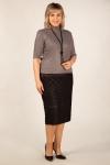 Юбка Моника-2 Милада черная юбка с объемным рисунком