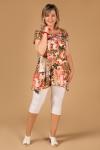 Блуза Мадлен Милада блузка летняя с цветочным принтом
