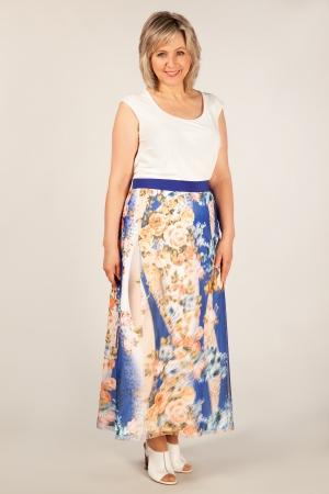 Юбка Хлоя Милада макси юбка с цветочным рисунком