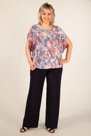 Блуза Василина Милада блузка для полных с коротким рукавом