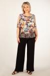 Блуза Симона Милада летняя блузка для полных с разрезами на плечах