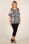 Блуза Кэтти Милада летняя блузка для полных с леопардовым принтом