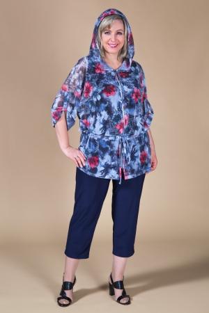 Брюки Бони Милада летние укороченные брюки 50-64 размера