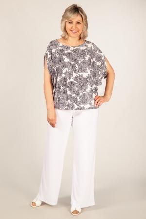 Блуза Василина Милада большая блузка с розами
