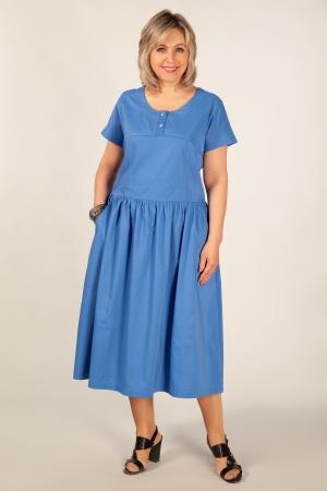 Платье Сабина Милада платье из хлопка для женщин голубое