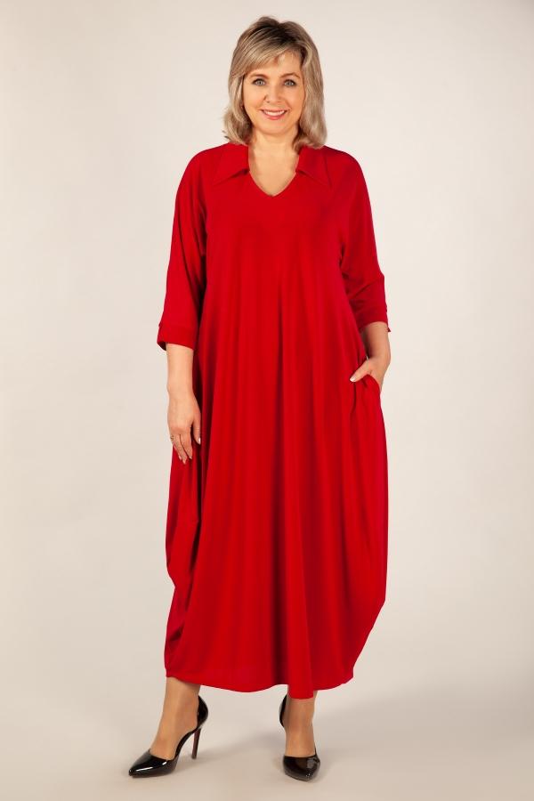Милада красное длинное платье больших размеров Платье Эмили