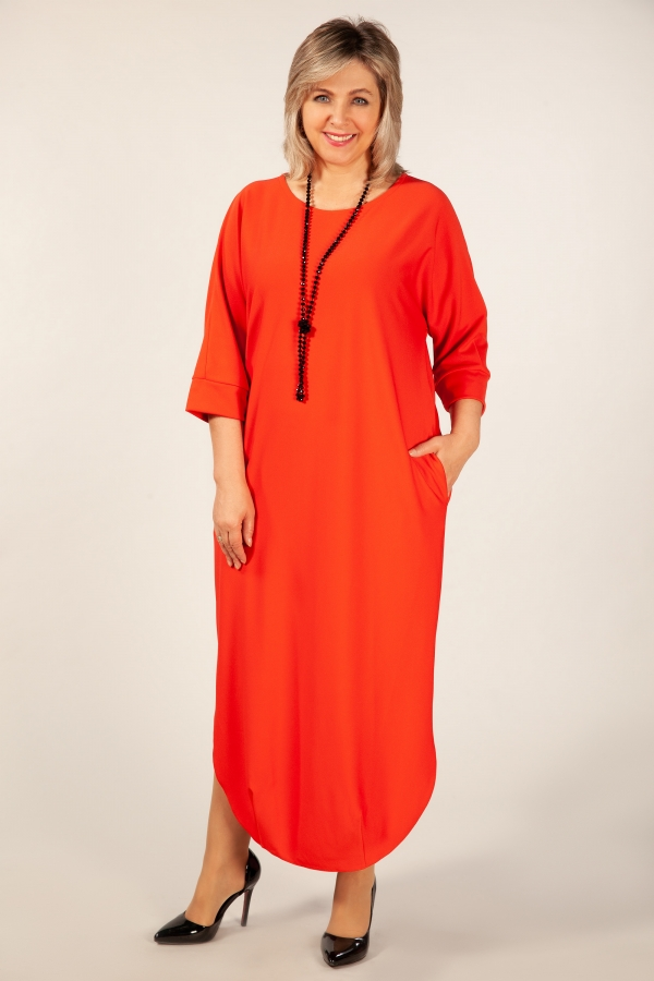 92237db1ff2e485 Платье Мона - коралл | Милада платья больших размеров оптом для ...