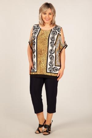 Блуза Кэтти Милада блузка большого размера с вырезами на плечах