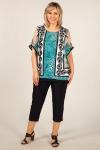 Блуза Кэтти Милада блузка для полных леопардовая