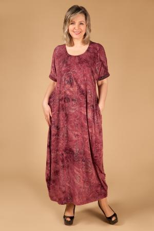 Платье Лори Милада бордовое бохо платье фото
