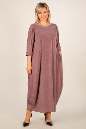 Платье Эвита Милада длинное платье с защипами по подолу фото