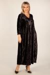 Платье Дорети Милада черное бархатное платье фото