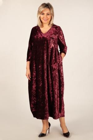 Платье Дорети Милада бордовое бархатное платье