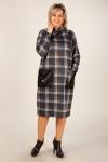 Платье Терра Милада модель платья в клетку для полных фото