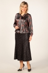 Блуза Платина Милада нарядная блестящая блуза на большие размеры