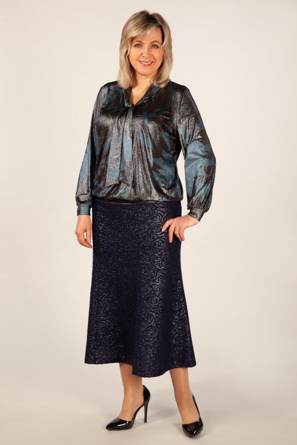 Милада блузка вечерняя больших размеров Блуза Платина