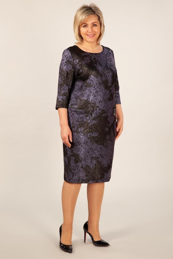 Милада красивое вечернее 64 размера Платье Клара