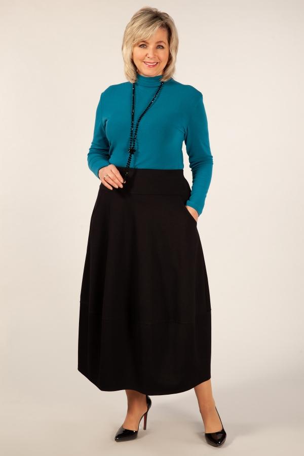 Милада черная длинная юбка большого размера Юбка Тина