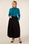Юбка Тина Милада черная длинная юбка большого размера