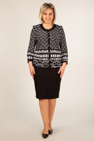 Блуза Домино Милада блузка с принтом для полных