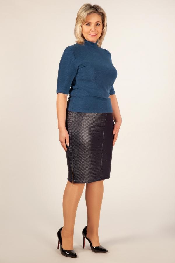 Милада синяя юбка больших размеров миди Юбка Кама