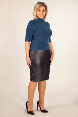 Юбка Кама Милада синяя юбка больших размеров миди