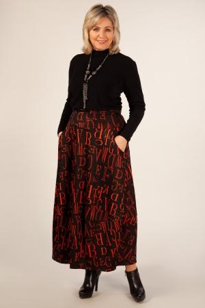 Юбка Буквы Милада макси юбка в бохо стиле