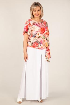 Блуза Алена Милада летняя блузка с завязками для полных