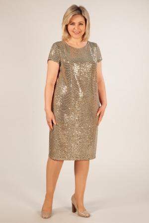Платье Канны Милада платья с пайетками для полных фото