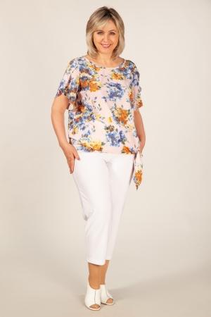 Брюки Бони Милада летние укороченные брюки на полную фигуру