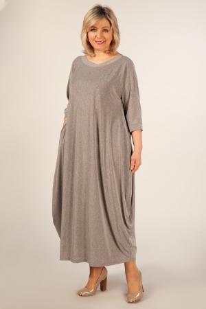 Платье Эвита Милада серое платье 50-64 размеров длинное фото