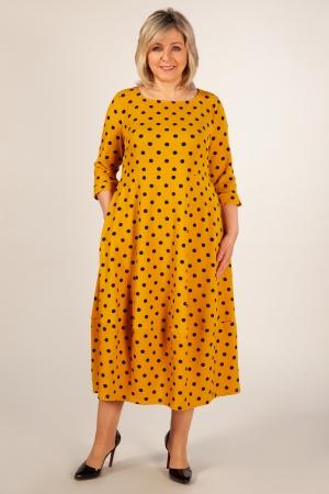 Платье Мария Милада платье в синий горох для полных