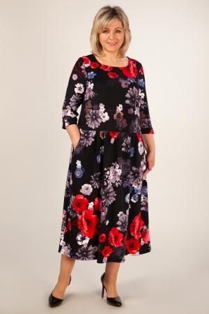 Платье Марта Милада платье с маками большого размера