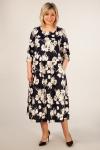 Платье Марта Милада цветочное платье для полных