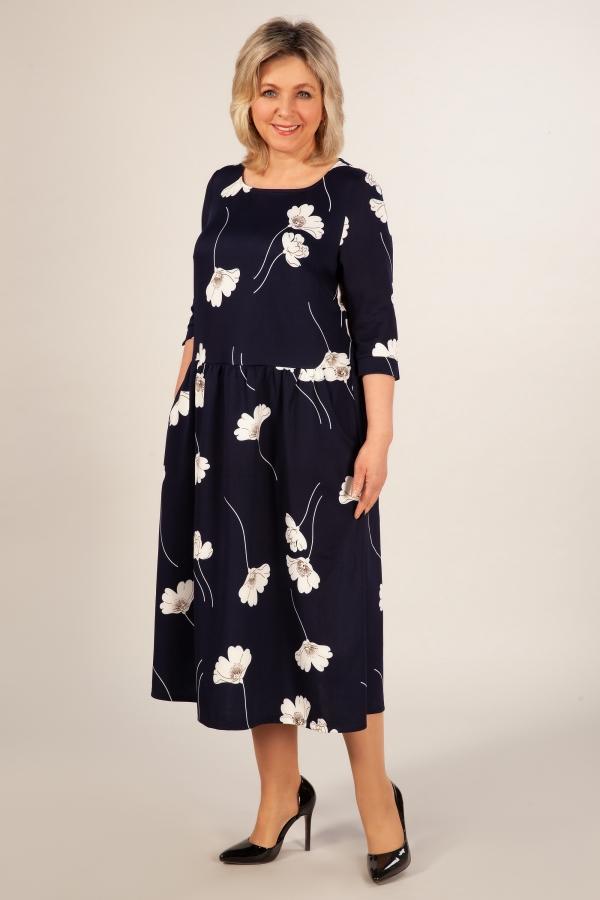 Милада платье цветочный орнамент бохо Платье Марта