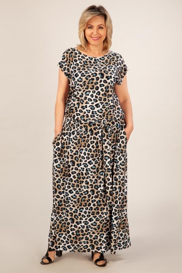 Милада с леопардовым принтом Платье Анджелина-2