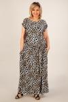 Платье Анджелина-2 Милада с леопардовым принтом