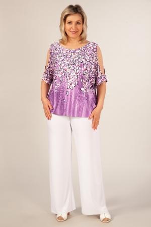 Брюки Лето Милада белые брюки для женщин больших размеров