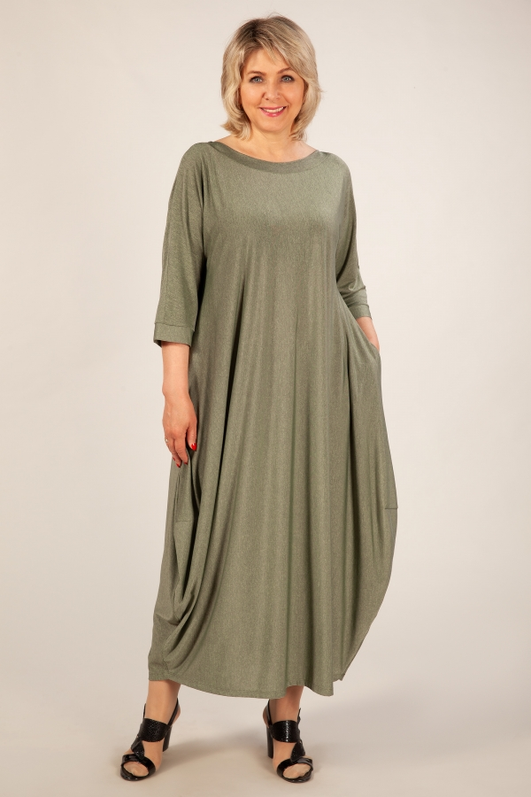 Милада фисташковое 50-64 размера Платье Эвита