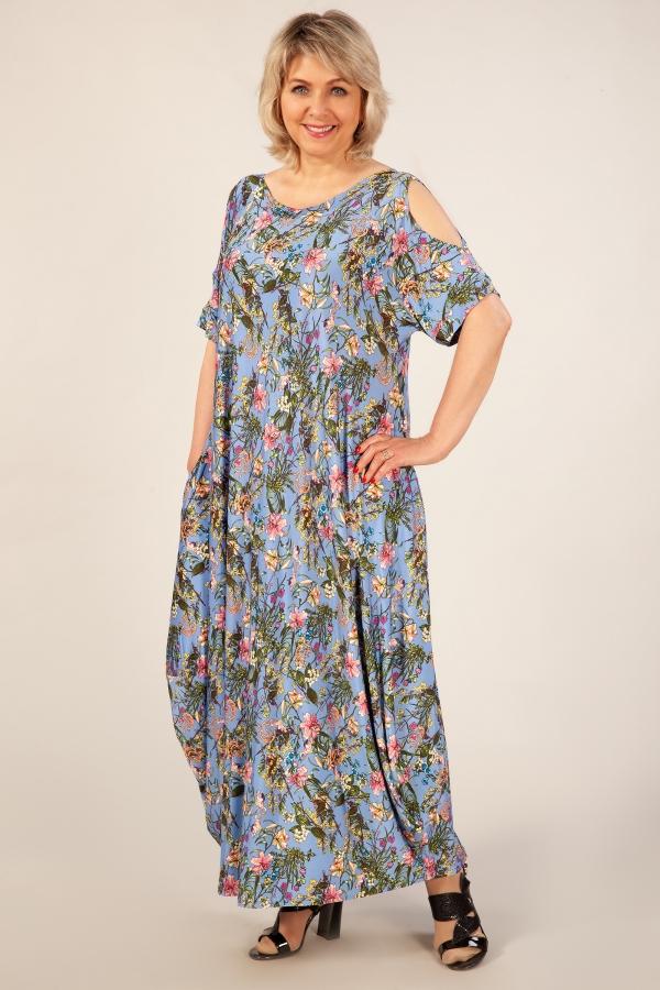 фото для полных летнее платье