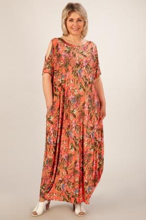 Платье Алиса Милада кораллового цвета