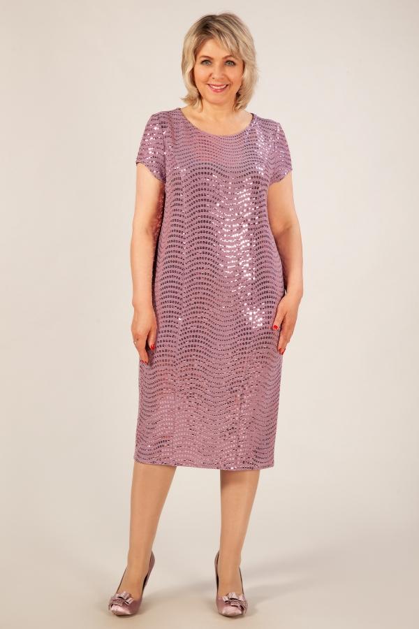 Милада брусничного цвета с пайетками фото Платье Канны