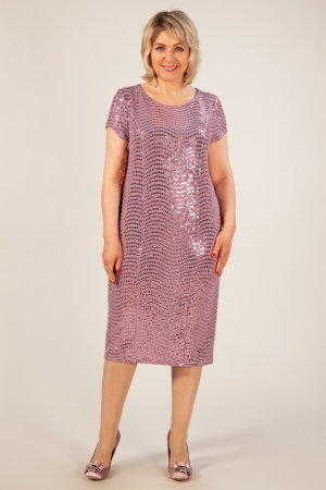 Платье Канны Милада брусничного цвета с пайетками фото