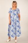 Платье Зоряна Милада голубого цвета