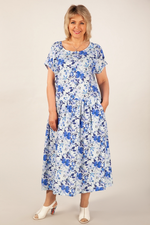 Милада голубого цвета Платье Зоряна